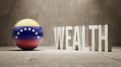 Stock Illustration of Venezuela. Wealth Concept.