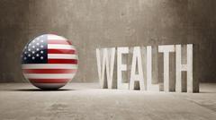United States. Wealth Concept. Stock Illustration
