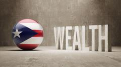 Puerto Rico. Wealth Concept. - stock illustration