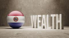 Stock Illustration of Paraguay. Wealth Concept.