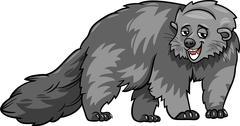 Stock Illustration of bearcat animal cartoon illustration