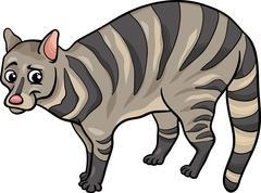 Stock Illustration of civet animal cartoon illustration