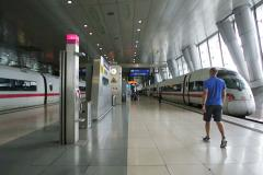 Busy train station Stock Footage