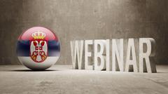 Stock Illustration of Serbia. Webinar Concept.
