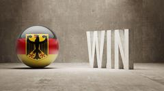 Germany. Win Concept. Stock Illustration