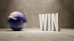 New Zealand. Win Concept. - stock illustration