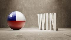 Stock Illustration of Chile. Win Concept.