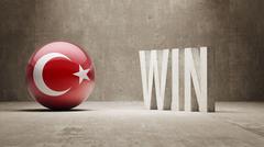 Turkey. Win Concept. Stock Illustration