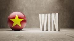 Vietnam. Win Concept. Stock Illustration