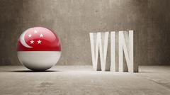 Singapore Win Concept. - stock illustration