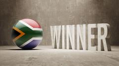 South Africa. Winner Concept. - stock illustration