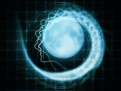 Stock Illustration of Lunar Attraction