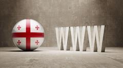 Georgia WWW Concept. Stock Illustration
