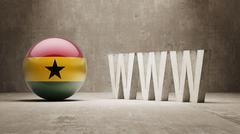 Ghana. WWW Concept. Stock Illustration