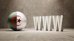 Algeria. WWW Concept. - stock illustration