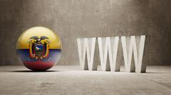 Ecuador. WWW Concept. Stock Illustration