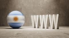 Argentina. WWW Concept. Stock Illustration