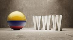 Colombia. WWW Concept. Stock Illustration