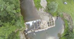 Aerial Stock Footage Mini waterfall Stock Footage