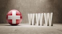 Switzerland. WWW Concept. Stock Illustration