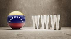 Venezuela. WWW Concept. Stock Illustration