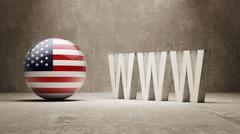 United States. WWW Concept. - stock illustration