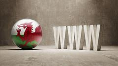 Wales. WWW Concept. Stock Illustration