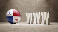 Stock Illustration of Panama. WWW Concept.