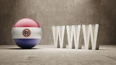 Paraguay. WWW Concept. Stock Illustration