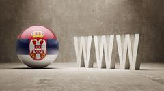 Serbia. WWW Concept. Stock Illustration