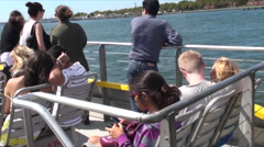 Water Taxi State Island Ferry NYC Stock Footage