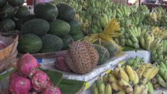 Asian Fruit Market Stall Zoom [ProRes] Stock Footage