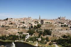 Toledo and Tagus river, Spain - stock photo