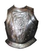 Toledo armor isolated on white background Stock Photos