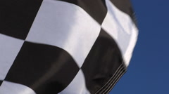 Checkered Flag Closeup 2 Stock Footage