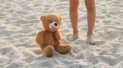 Bear marionette Stock Footage