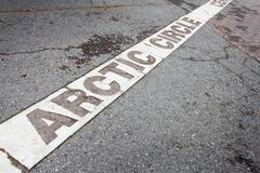 Arctic circle mark Stock Photos
