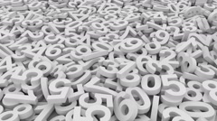 Numbers.Seamless loop Stock Footage