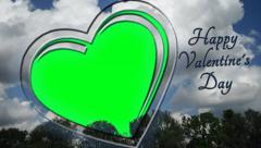 Photo Frame - Love, Valentine's Day Greetings - green screen 3 - stock footage