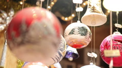 Christmas tree ball input - stock footage