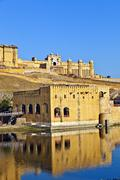 famous Amber Fort in morning light - stock photo