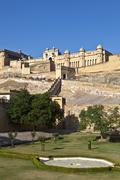 Famous Amber Fort in Jaipur Stock Photos