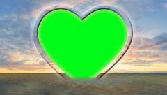 Photo Frame - Love, Valentine's Day Greetings - green screen 6 - stock footage