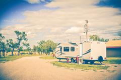 Camping in South Dakota Stock Photos