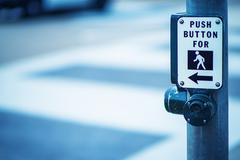 Manual of Traffic Signs. Push Button For Green Light. Traffic Signs Stock Photos