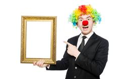 Clown isolated on the white background Kuvituskuvat