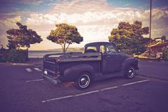 Vintage American Pickup - stock photo