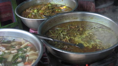 Asian Street Food Bubbling Stew [ProRes] Stock Footage