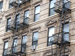 fire escapes in New York - stock photo