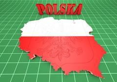 Stock Illustration of Map illustration of Poland